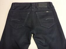 076 MENS EX-COND G-STAR RAW 3301 SLIM DK NAVY JEANS 32 / -- SHORT $240 RRP.