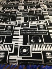 "FLEECE KNOTTED BLANKET- MUSIC Mics - Keyboards-Headphones - Approx 70"" x 58"""