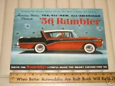 1956 AMC RAMBLER Color Sales Catalog Brochure