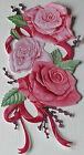 Set of 8 Tattered Lace Charisma Rose Flowers Die Cuts - 10 Colours/Mixed