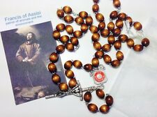 Saint Francis of Assisi relic brown rosary patron of animals the environment