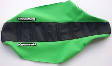 "New Black & Green Ribbed ""Kawasaki"" Seat cover KX125 KX250 1999-01"