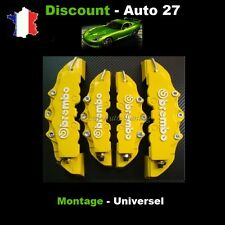 CACHE ETRIER DE FREIN BREMBO 3D UNIVERSEL JAUNE TUNING BMW 316I, 318I COMPACT