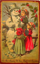 In the Meadow We Can Build a Snowman Christmas Winter Wonderland Metal Sign