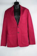 NWT $650 Mens Burberry Brit Willson Patch Jacket sz Small Crimson Pink check