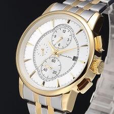 Kronen & Söhne Luxury Gold Day & Date Stainless Steel Band Men's Wrist Watch