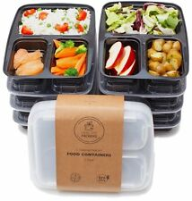 Healthy Packers 3 Compartment Reusable Food Prep Containers  Bento Lunch 7 Pack