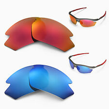 Walleva Polarized Fire Red + Ice Blue Replacement Lenses For Rudy Project Rydon