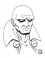 ORIGINAL ART- Martian Manhunter (DC Comics) 5x7 sketch by Will Ripamonti
