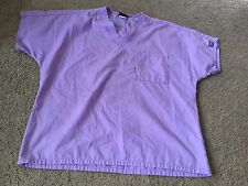 Nice women's size S Small Cherokee Workwear light purple scrubs top shirt
