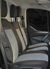 Seat covers for Renault Trafic 2001 - 2014 Tailored seat covers 2 + 1 grey2
