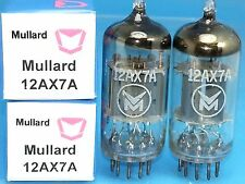 MULLARD 12AX7 ECC83 VACUUM TUBE 1960 MATCH PAIR WARM SWEET ENGLISH BEER PUB M16
