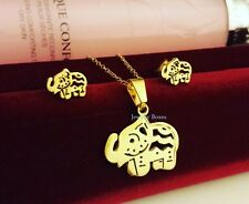 SUPER Adorable *Elephant* Stainless Steel Jewelry Set: Necklace & Earring
