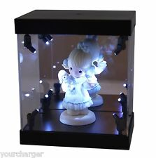 MB Display Box Acrylic Case LED Light House for mini collectible doll figurine