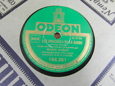 DISQUE 78 RPM TOURS MARIE DUBAS La chanson du roulier Les Housards de la garde