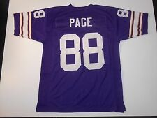 Minnesota Vikings Alan Page UNSIGNED CUSTOM Purple Jersey - XL