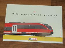 AK BRAWA Triebwagen Talent BR 643 Der DB 10 x 15 cm ungelaufen