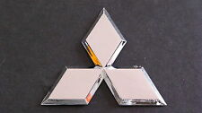 Chrome diamond badge 8cm mitsubishi