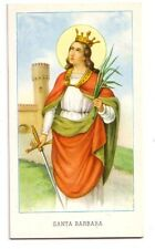 Santa Barbara  con preghiera   (s497)