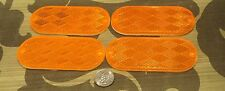 4 orange DOT reflectors screw and sticker mount SAE A 88 DOT pathfinder 4 x 2 in