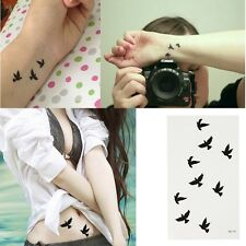 DIY Bird Pattern Tattoo Sticker Waterproof Temporary Tattooing Paper Body Art