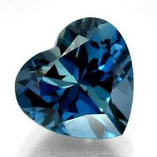 NATURAL SUPERB LONDON BLUE TOPAZ GEMSTONE (1 piece)  HEART CUT (4.7 x 4.7 mm)
