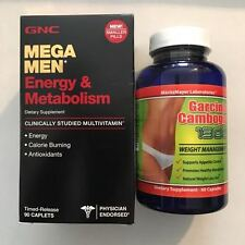 GNC Mega Men Energy & Metabolism 90 Caps +AND+ Garcinia Cambogia Weight Loss