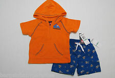NWT QuickSilver 2 Pc Swimsuit Tery Cloth Cover Up & Swim Trunks Boys 18M $44.50