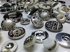 Mixed120pcs Silver metal Buttons Sewing Knitting Scrapbooking Beads Closures