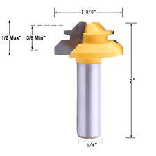 1tlg 1/4'' Schaft 45° Router Bit Holbearbeitung Holzfräser Konterprofilfräser