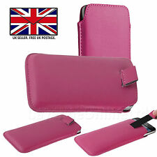 Quality Pull Tab Slide Slip In Top Flip Up Phone Case Pouch Sleeve - SONY XPERIA
