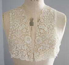 Antiguo/Vintage Top Blusa de Encaje de Bruselas Duchesse