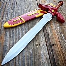 """11"""" Legend of Zelda Hylian Hyrule Ocarina of Time Master Sword Short Dagger RED"""