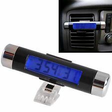Digital Thermometer LCD Clock Portable Car Small Temperature Time Celsius Air