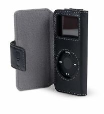 Belkin Leather Folio Case + Lanyard for Ipod Nano 1G 2G 1st 2nd Gen F8Z058 BLACK