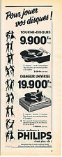 PUBLICITE ADVERTISING    1957   PHILIPS  tourne disque changeur universel