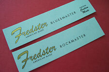 Two Custom or Vintage Style Guitar Headstock Waterslide Decals (2) Metallic INKS