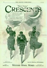 Crescent Bicycle   -   Western Wheel Works   -   Large Full Page    -    1895