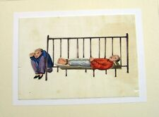 CHINESE RICE PUNISHMENTS   GUARDING A PRIS0ONER ON A BED. C1860