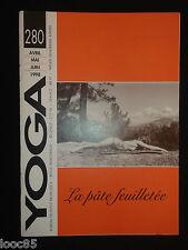 revue Yoga 280 - 1998 - la pâte feuilletée - arthrose - cerveau - argile