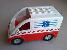 LEGO Duplo Krankenwagen 2. WAHL! Auto Transporter Krankenhaus Sanitäter aus 4979