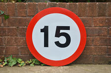 road sign traffic sign speed limit man cave props 15 MPH metal - FREE DELIVERY