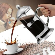 French Press Coffee Espresso Maker 1000ML Stainless Steel Heat Resistant OO55