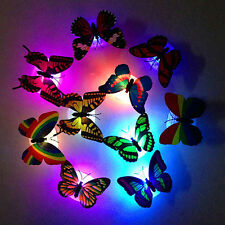 Color Changing Cute Butterfly Led Night Light Home Room Desk Wall Decor Nicely