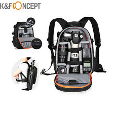 K&F Concept DSLR SLR Camera Backpack Bag Case for Canon Nikon Sony w/ Rain Cover