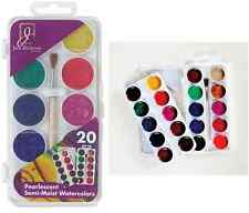 Semi Moist Watercolor Painting Cakes 20 Pearlescent Colors 390220