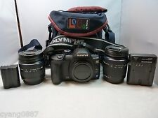 Olympus E-520 10.0 MP dSLR with 14-42mm & 40-150mm lens. Shutter count is 1.6k.