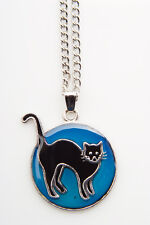 Sea Gems Pussy Cat Colour Change Mood Necklace / Pendant with 16.5 inch Chain