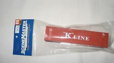 "Walthers HO 40' Hi-Cube Rib Side Container ""K"" Line #949-8203 New in Package"