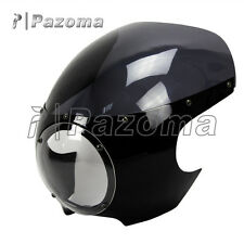 "Motorcycle 5-3/4"" Headlight Fairing Screen Retro Cafe Racer Style Drag Racing"